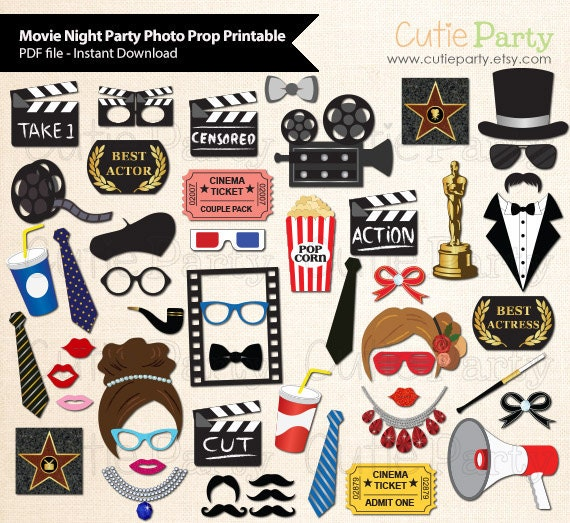 Movie night party photo booth prop academy award party photo movie night party photo booth prop academy award party photo booth prop instant download party printable 52 ready print images solutioingenieria Image collections