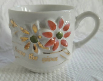Vintage LOVE the GIVER tea cup made in Germany