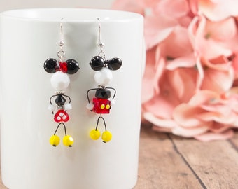 Mickey Mouse Inspired Earrings, Disney Bound