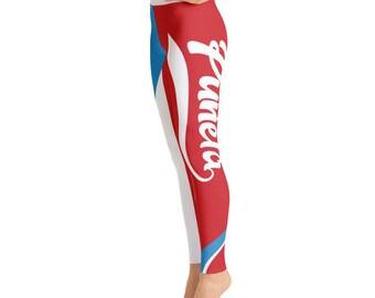 Puñeta Boricua Power Yoga Leggings - Puerto Rico Flag Leggings
