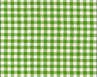 Round Gingham Lime Oilcloth Tablecloth