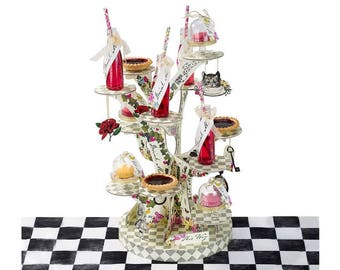 Truly Alice, Treat Stand, Alice In Wonderland, Themed, Party, Tableware, Supplies