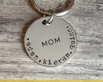 Simple Mom and Childs Name Key Chain, Custom Keychain, Mother's Day, Gift for Mom