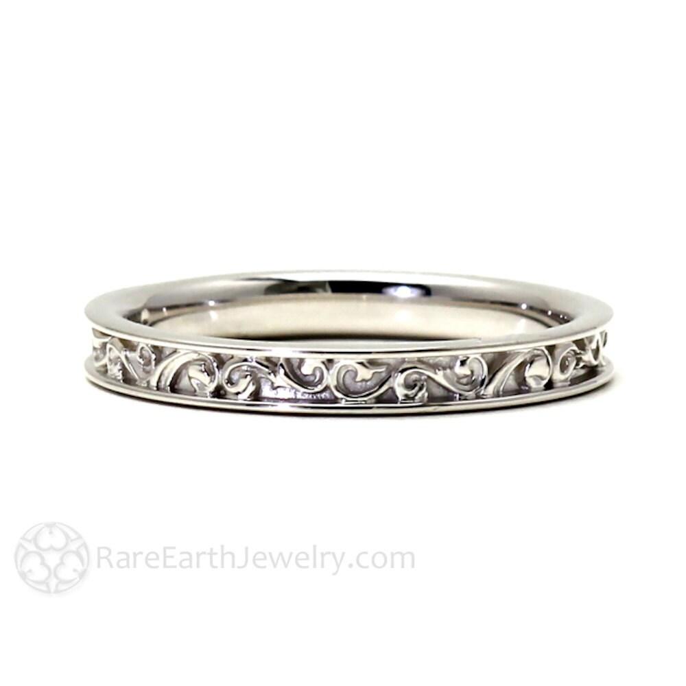 zoom - Filigree Wedding Rings