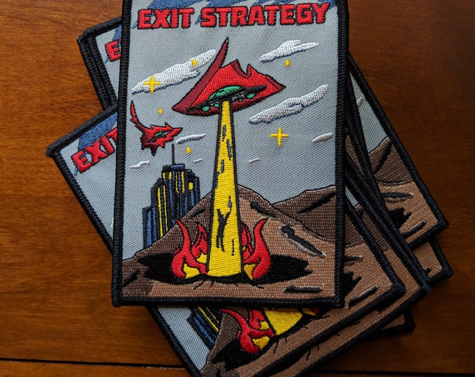 Featured listing image: Exit Strategy UFO patch - Iron on -