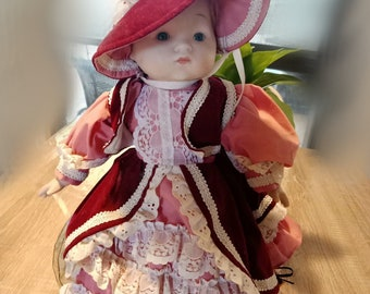 Armand Marseille AM Doll French Victorian Style Beauty in Long Lace Dress Bisque Doll!