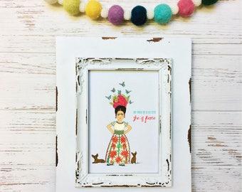 She is Fierce Little Frida Kahlo Art Print