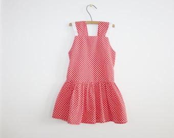 Vintage Red and White Polka Dot Dress