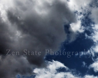 Cloud Photography. Cloud Watching Sky Photography Print. Wall Art. Clouds Photo Print, Framed Print, or Canvas Print. Home Decor.