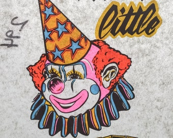 I'm a Little Clown Vintage Iron On Heat Transfer