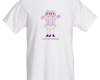 2 headed girl t-shirt