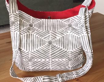 Hobo Purse; Cross Body Hobo Bag; Crossbody Hobo; Shoulder Bag; Sling Bag; Slouchy Bag; Canvas Tote Bag; Crossbody Purse; Fabric Handbag