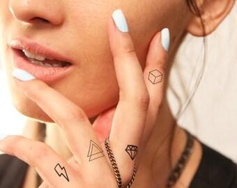 Geometry set - Temporary tattoo (Set of 2)