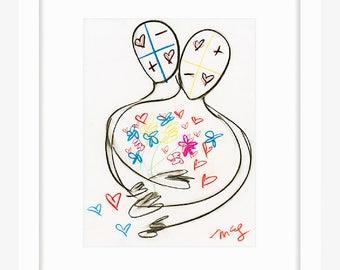 Flower Figures (framed prints)