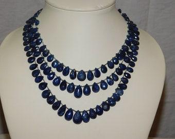 natural blue sapphire briolet