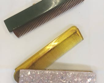 Two Retractable Vintage Combs