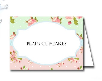 EDITABLE Food Label Cards, Floral Bridal Shower Labels, Floral Chic, Floral Labels, Baby Shower Labels, Wedding Food Labels TLC43 BS52