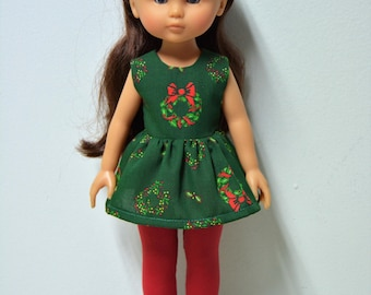 "Handmade Doll Clothes Top and Pants Leggings fits 13"" Corolle Les Cheries Dolls Christmas 1"