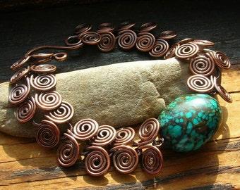 Turquoise Egyptian Spiral bracelet