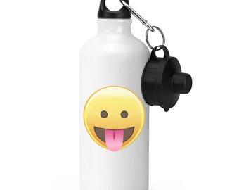 Tongue Out Eyes Open Emoji Sports Bottle