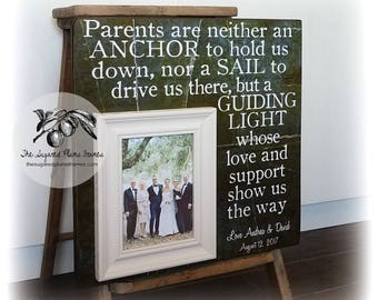 Mother of the Groom Gift, Mother of the Bride Gift, Father of the Bride Gift, Parents Wedding Gift, Anchor 16x16 The Sugared Plums Frames