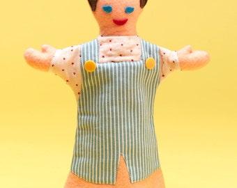 Felt Hand Puppet Vintage Fabrics Silly Sam