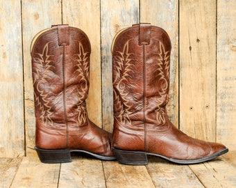 Us 11 Western Boot Us 11 Cowboy boot 11 cuban heel boot 44 cuban heel boot 11 pointed toe boot 44 pointed toe boot Nocona Western Boot USA