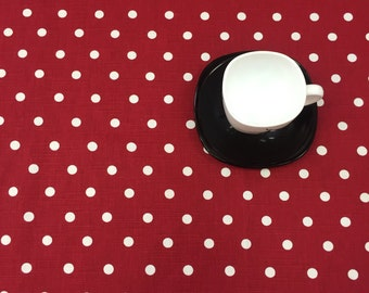 Tablecloth red and White Polka Dot, modern tablecloth