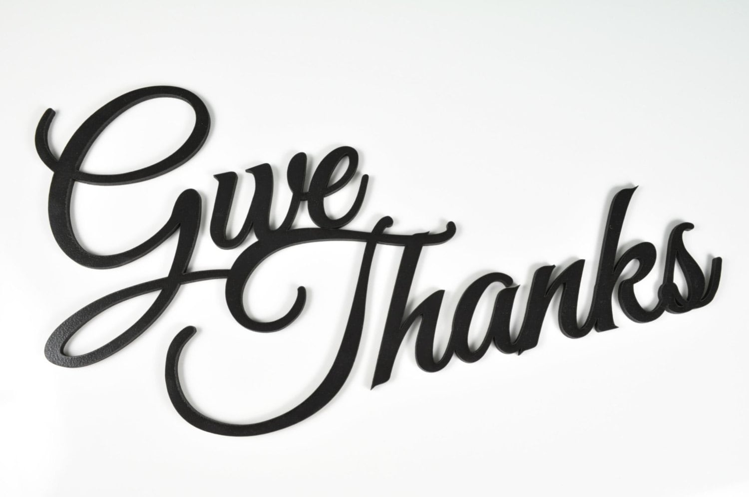Word Art Wood 3D Cutout Give Thanks By MRC Products