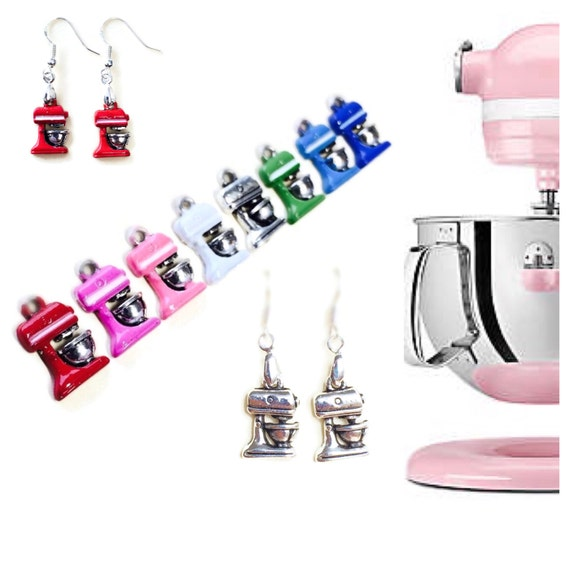 Retro Kitchen Mixer Earrings Cook Chef KitchenAid Gifts For