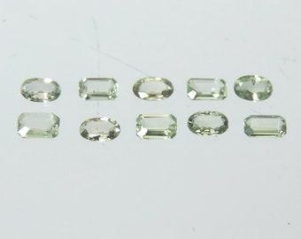 Cut Top Facet Gemstones Tanzania Precious Stones Green Sapphire 3.64 cts Rare Gems Precious