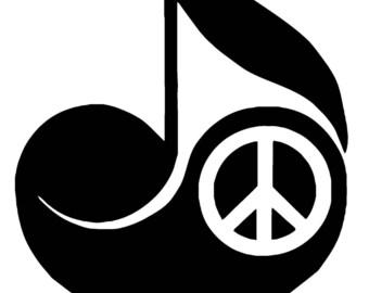 Love Peace Music Vinyl Decal T46