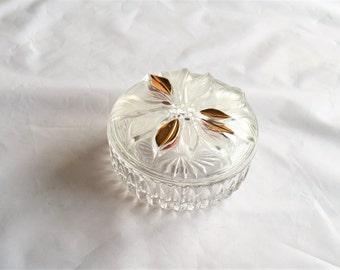 Glass Jewelry Box/ Jewelry Dish/Keepsake Trinket Box