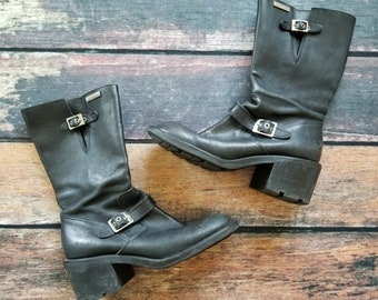 Rare 90s Vtg Grunge Harley Boots Size 10 but Fit 9s Great