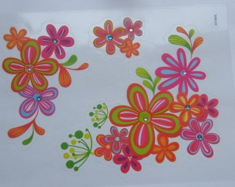 1 Sheet flowers decals stickers
