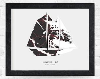 Lunenburg Bluenose Print