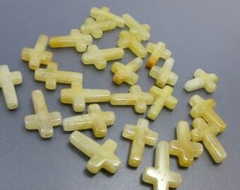 Honey Jade Cross  12 Pcs YJ3179