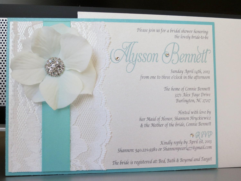 Andrea turquoise themed wedding shower invitation turquoise zoom filmwisefo