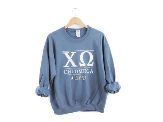 New Chi Omega Big USA Crewneck Sweatshirt & Shirts // Size S-3XL // Pick Style and Color 0ZDMR
