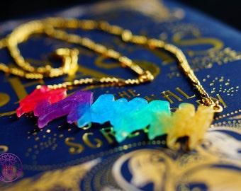 Rainbow Kawaii Necklace - Nickel free