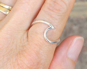 Silver Wave Ring | Wave Ring | Ocean Wave Ring | Silver Beach Wave Ring | Designer Wave Ring | Endless Wave Ring | Minimalist Silver Ring