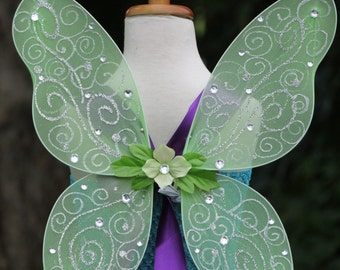 Tinkerbell wings,Fairy wings, tinkerbell accessories, fairy accessories, green fairy wings, tinker bell wings, fairy festival accessories