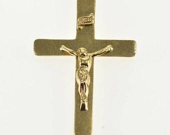 14k Crucifix Cross Jesus Christ Christian Catholic Pendant Gold