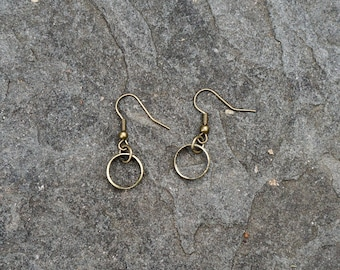 Brass Bullet Case Earrings