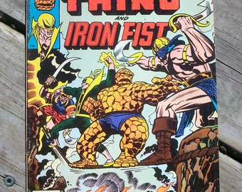 Vintage 1976 Marvel Two In One Thing and Iron Fist Comic Book