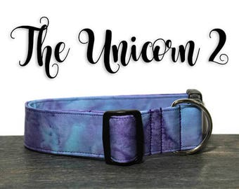 Unicorn Dog Collar, Cute Dog Collars, Collars for Dogs, Tie Dye Collar, Collar for Girl Dog, Girl Dog Collars, Watercolor Collar for Dogs