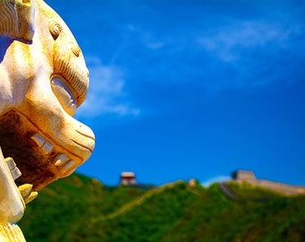 Foo Lion at the Great Wall