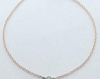Rose Gold Diamond by the yard Bracelet, Diamond Bezel Bracelet, Diamond Bracelet