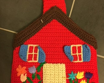 Crochet Vintage House Purse