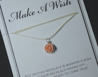 Peach Flower Wish Necklace - Buy 3 Items, Get 1 Free